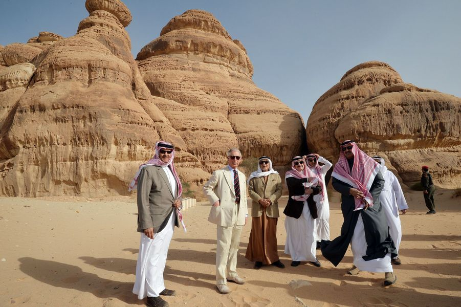 Le prince Charles visite le site de Al-'Ula en Arabie Saoudite, le 11 février 2015