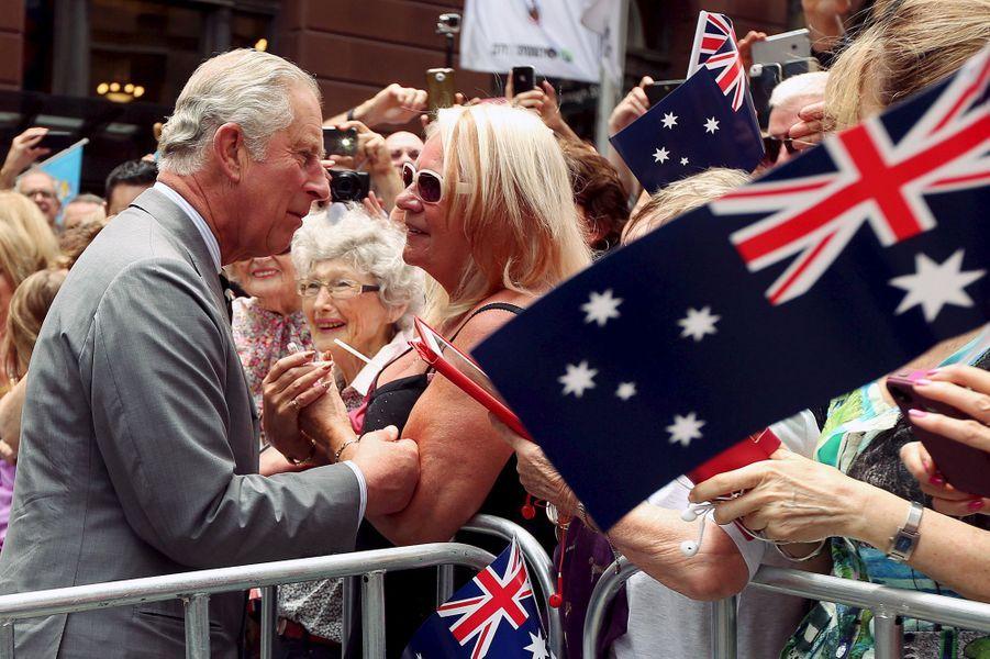 Le prince Charles à Sydney, le 12 novembre 2015
