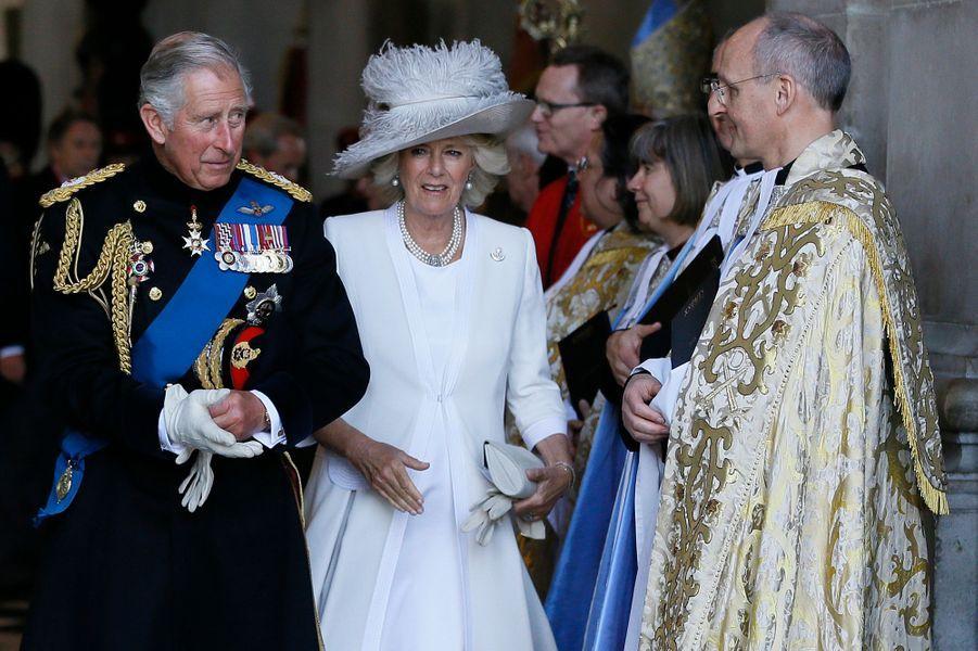 Le prince Charles et Camilla dans la cathédrale St Paul à Londres, le 18 juin 2015