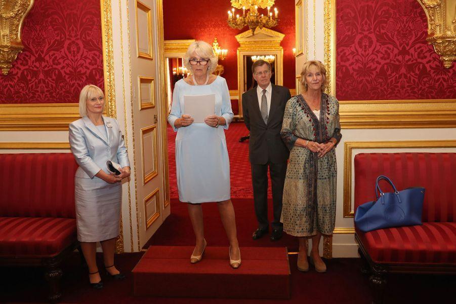 La duchesse de Cornouailles Camilla à Londres, le 12 juillet 2016