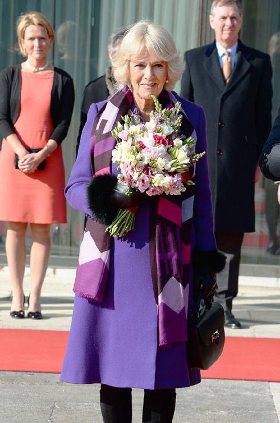 Le prince Charles et la duchesse de Cornouailles Camilla à Zagreb, le 14 mars 2016