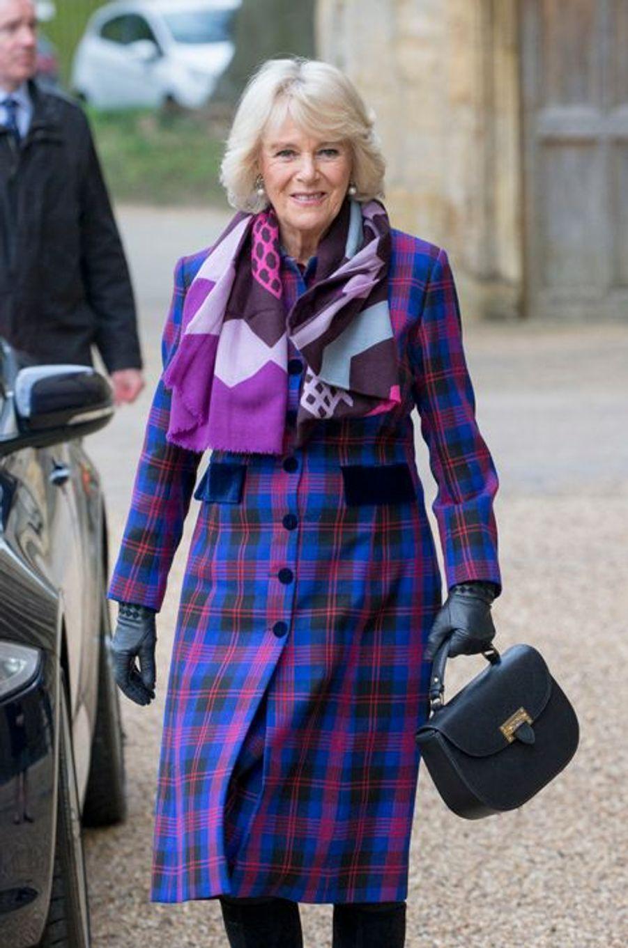 La duchesse de Cornouailles Camilla à Peterborough, le 3 février 2016