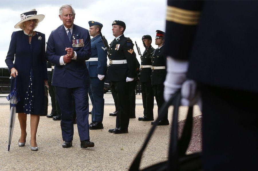 Le prince Charles et Camilla au mémorial terre-neuvien de Beaumont-Hamel , le 1er juillet 2016