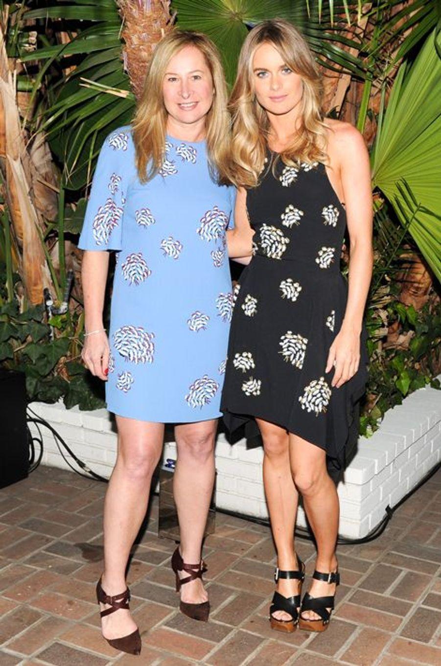 Cressida Bonas, avec Vanessa Lunt de Mulburry, à Los Angeles, le 9 janvier 2015