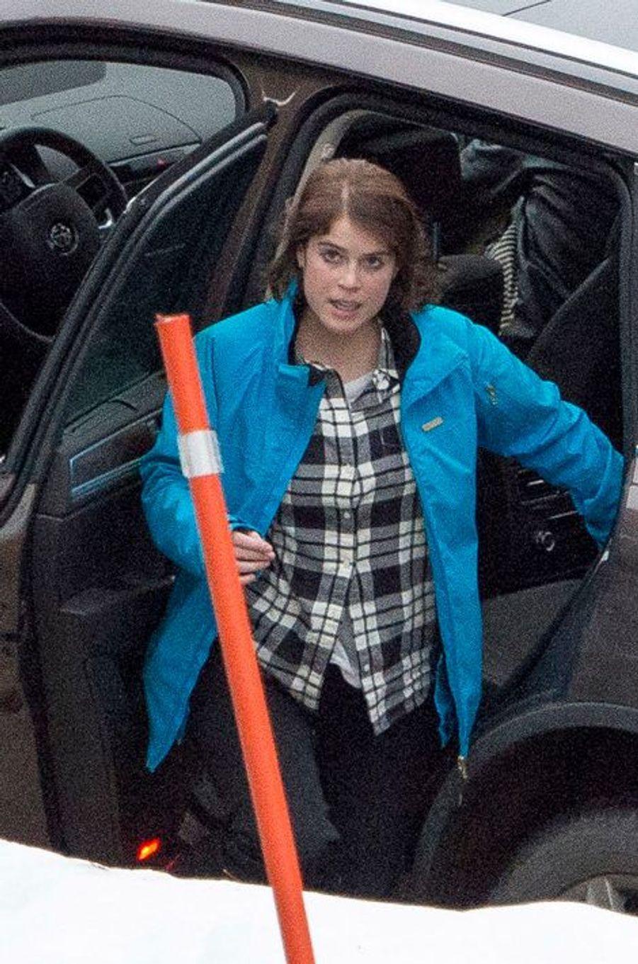 La princesse Eugénie d'York à Verbier en Suisse, le 3 janvier 2014