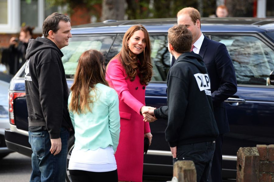 Kate et William à Gipsy Hill au sud de Londres, le 27 mars 2015
