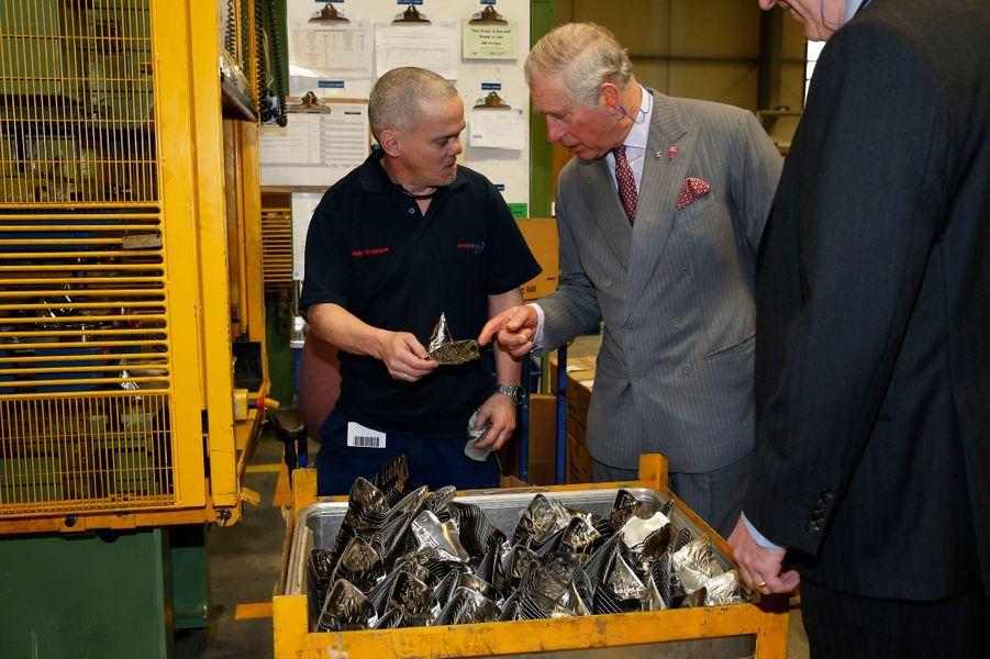 Le prince Charles à Redcar, le 17 février 2016