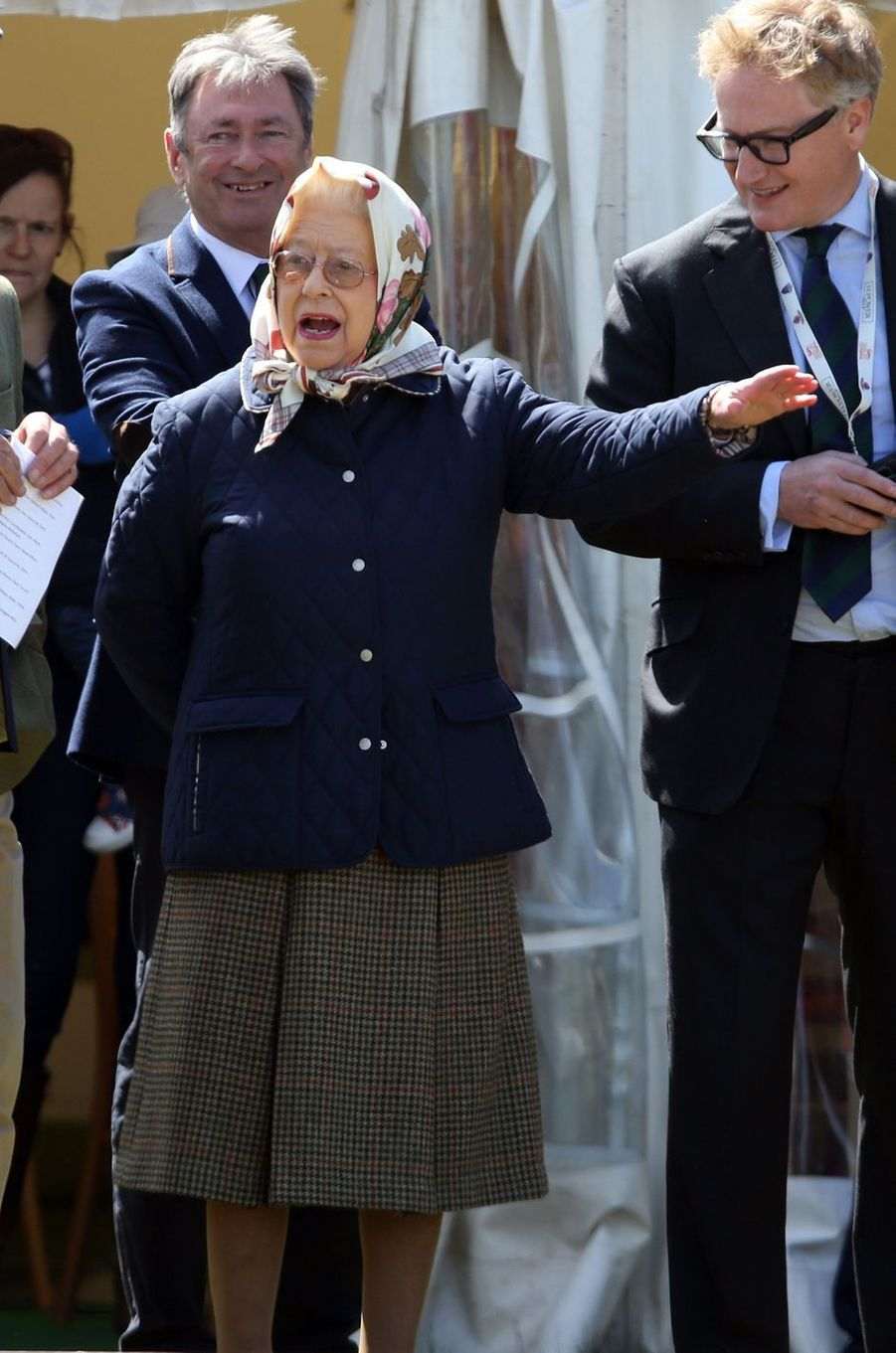 La reine Elizabeth II au Windsor Horse Show, le 10 mai 2017