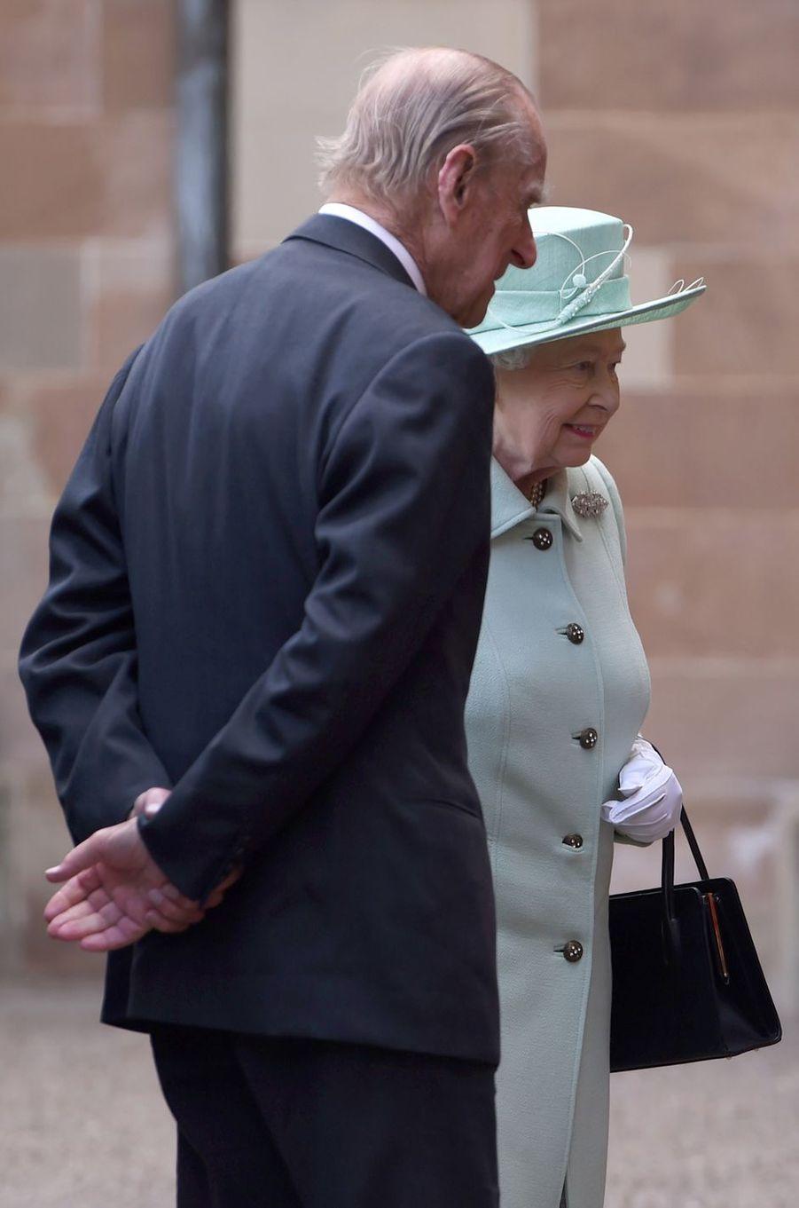 La reine Elizabeth II et le prince Philip à Belfast, le 27 juin 2016