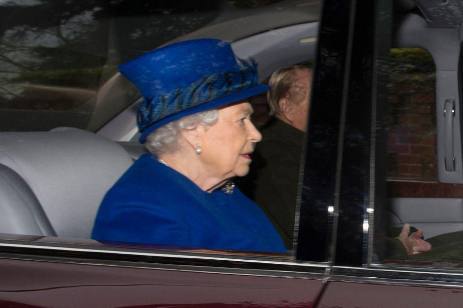 Elizabeth II Kate Middleton Sandringham 8 Janv 2017 2