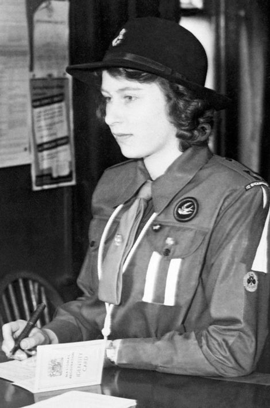 La princesse Elizabeth, le 1er janvier 1942
