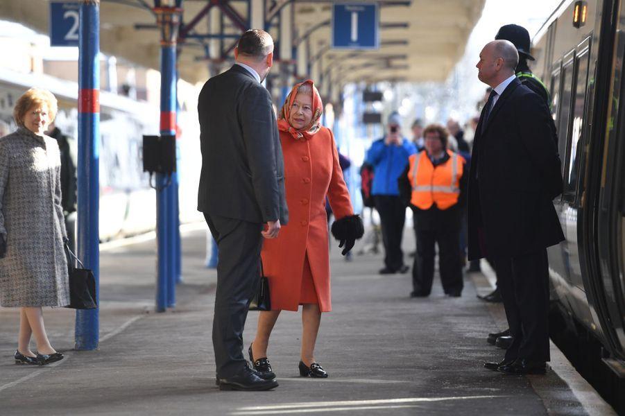 La reine Elizabeth II à King's Lynn, le 7 février 2018