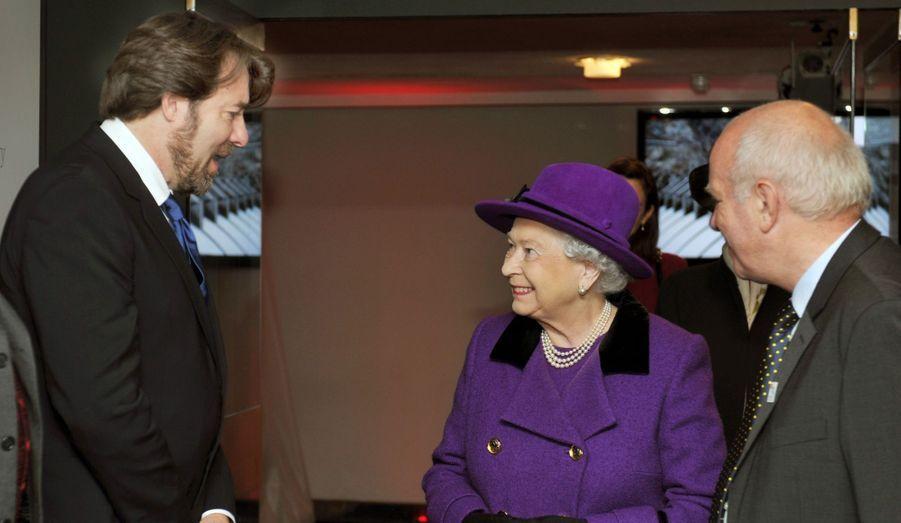 Lors de la visite du British Film Institute.