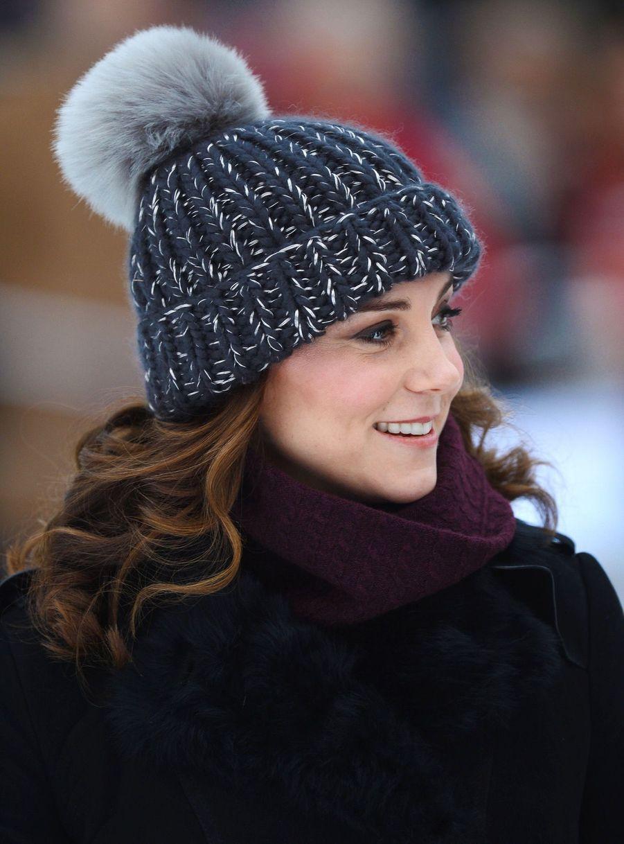 Kate Et William Dans Le Froid De L'hiver Suédois 2