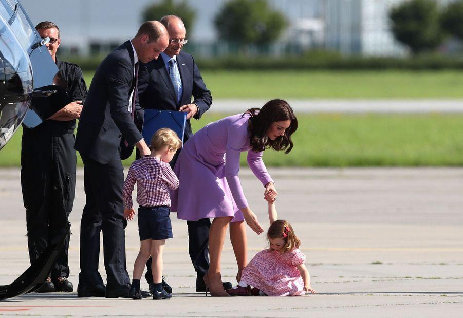 George, Charlotte, Kate Et William Disent Au Revoir À L'Allemagne 10