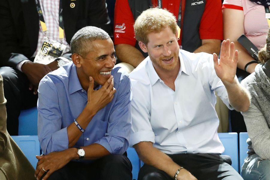 Barack Obama et le prince Harry aux Invictus Games à Toronto vendredi.
