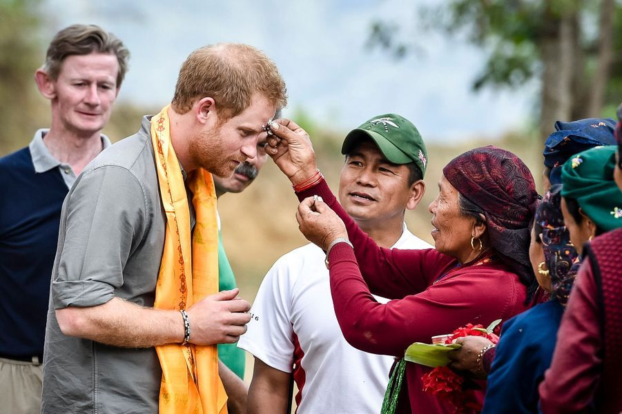 Le prince Harry à Bardia, le 21 mars 2016