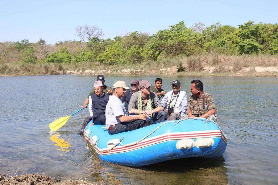 Le prince Harry dans le parc national de Bardia, le 21 mars 2016