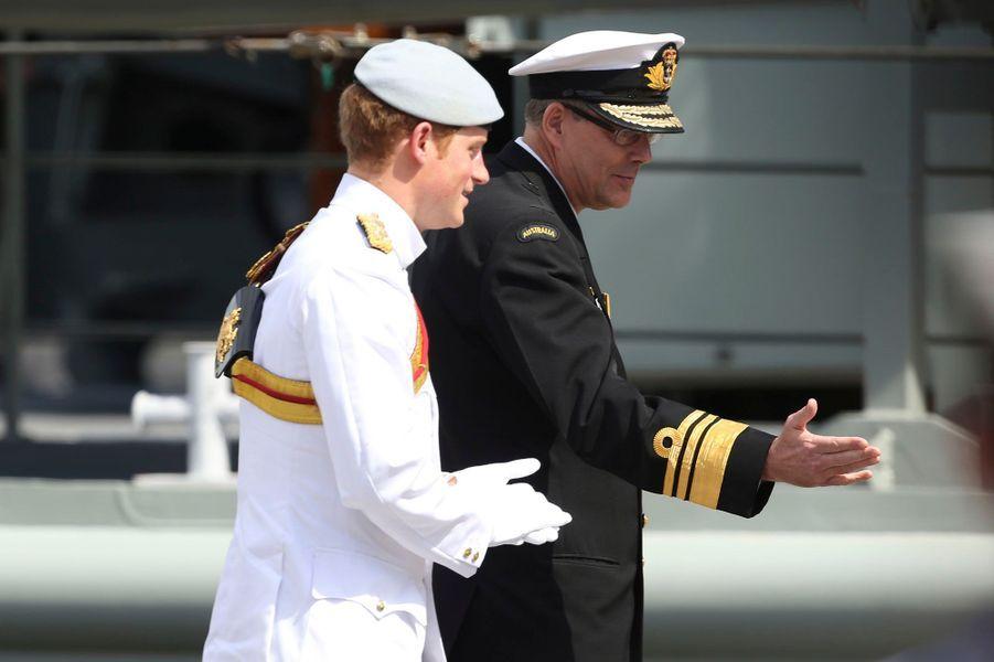 Harry rend hommage à la marine australienne