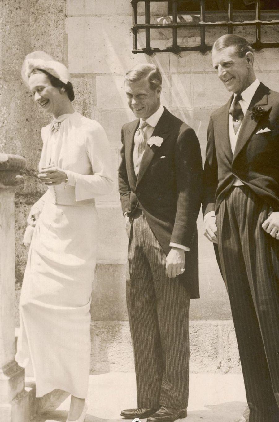 Le prince Edward et Wallis Simpson, le 3 juin 1937, jour de leur mariage au château de Candé