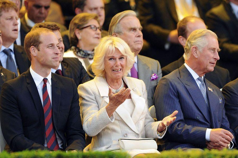 William, Camilla et Charles