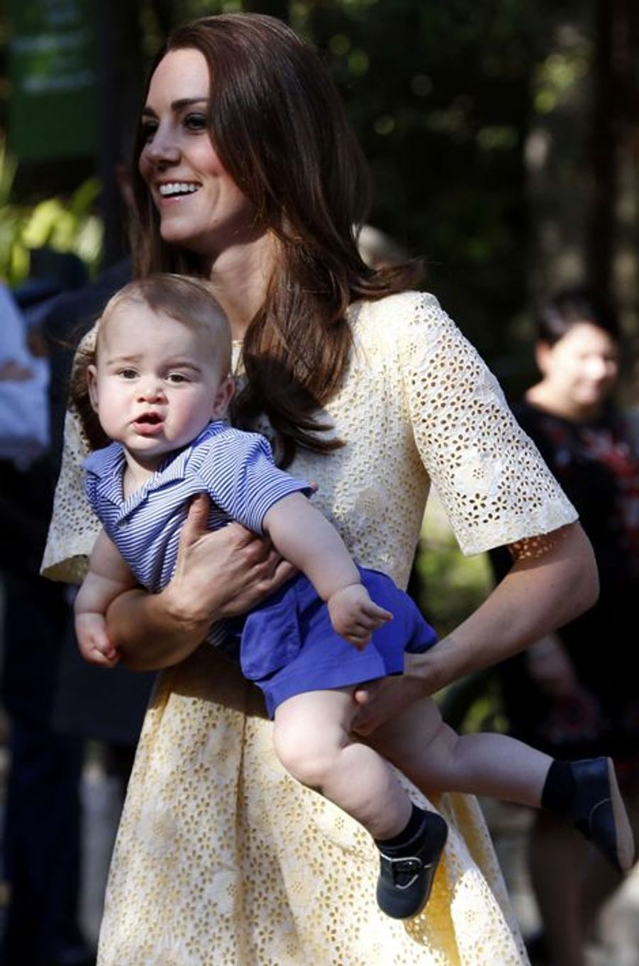 Journée au zoo pour le petit prince George