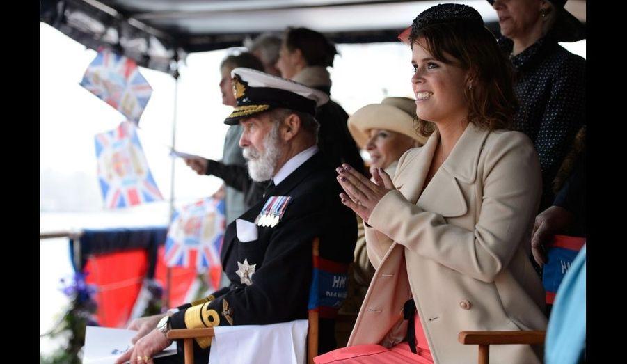 Le prince Michael de Kent et la princesse Eugenie.