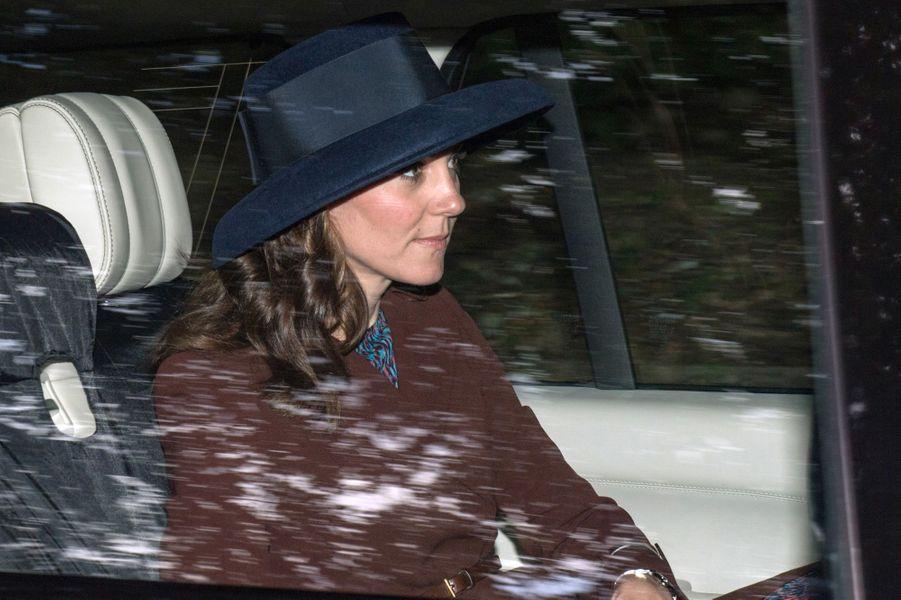 La duchesse de Cambridge, née Kate Middleton, à Crathie Kirk le 20 août 2017