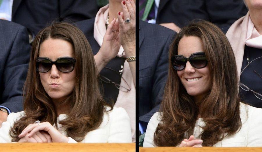 Pippa Middleton a assisté avec sa sœur à la finale masculine de tennis opposant Andy Murray à Roger Federer à Wimbledon, le 8 août.