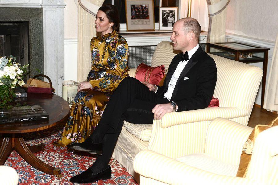 La duchesse Catherine de Cambridge et le prince William à Stockholm, le 30 janvier 2018