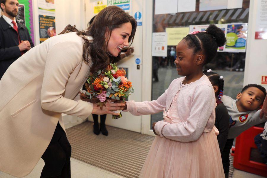 La duchesse de Cambridge à Londres, le 14 novembre 2017