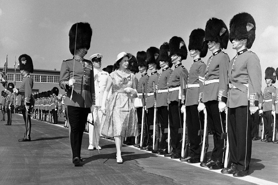 La reine Elizabeth II au Canada le 29 juin 1959