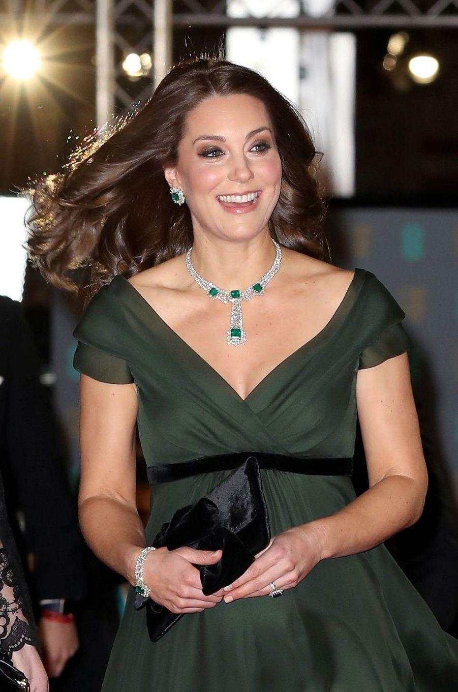 Kate Middleton radieuse à la cérémonie des Bafta à Londres,le 18 février 2018