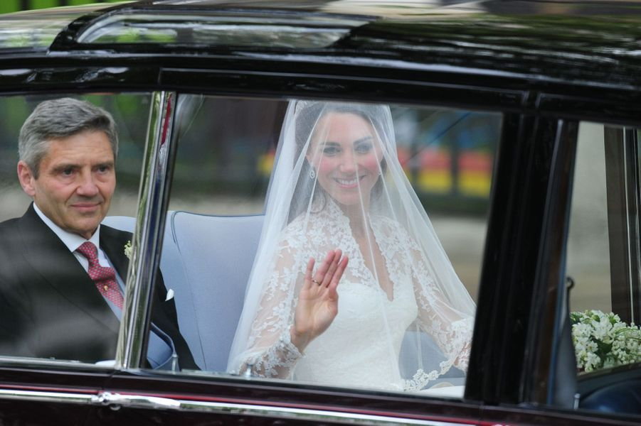 Kate Middleton avec son père le 29 avril 2011