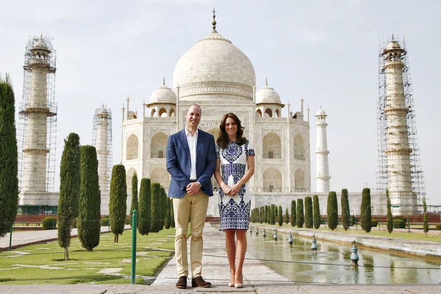 "Kate et William sur le ""banc de Lady Di"""