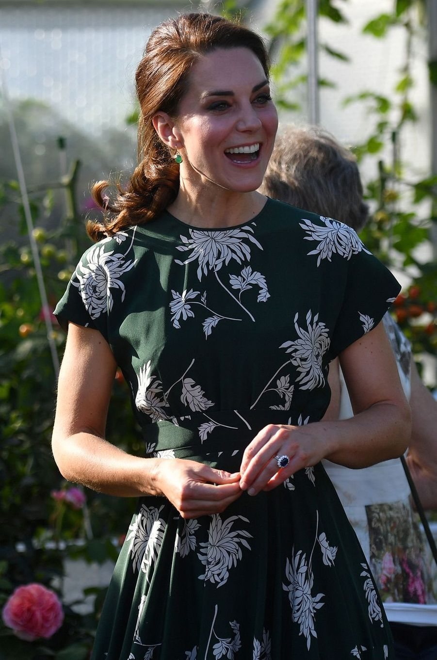 La duchesse Catherine de Cambridge au Chelsea Flower Show à Londres, le 22 mai 2017