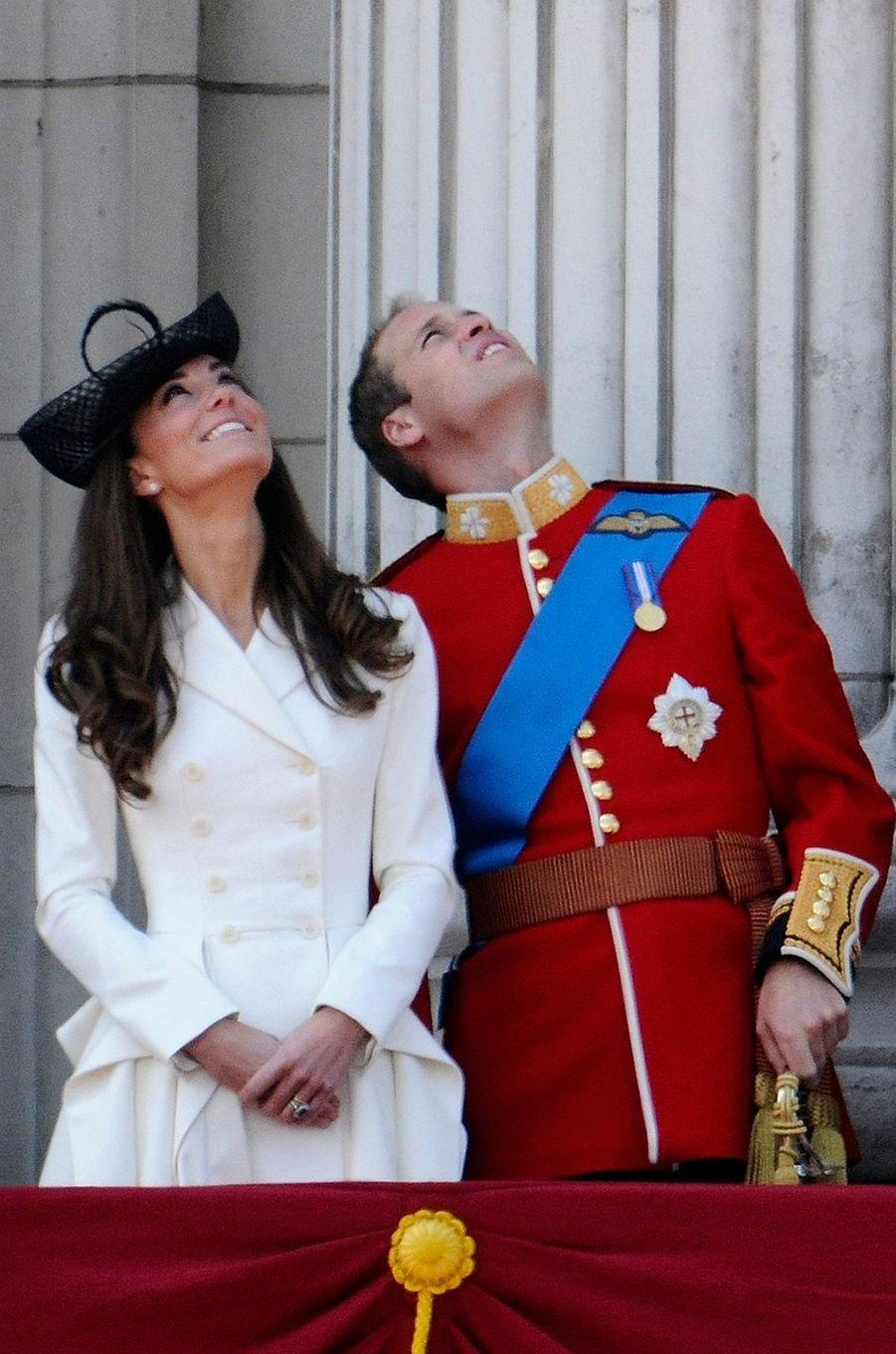 La duchesse Catherine de Cambridge à la cérémonie Trooping the Color à Londres, le 11 juin 2011