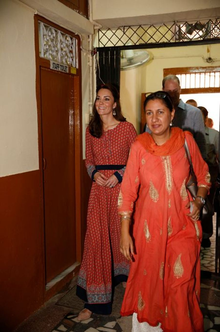 Le prince William et la duchesse Catherine de Cambridge à New Delhi, le 12 avril 2016