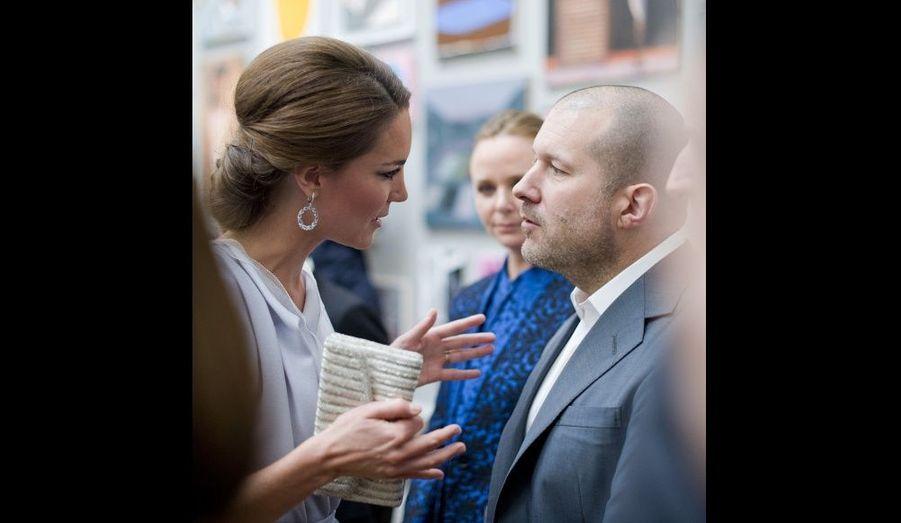Avec le designer Jonathan Ive