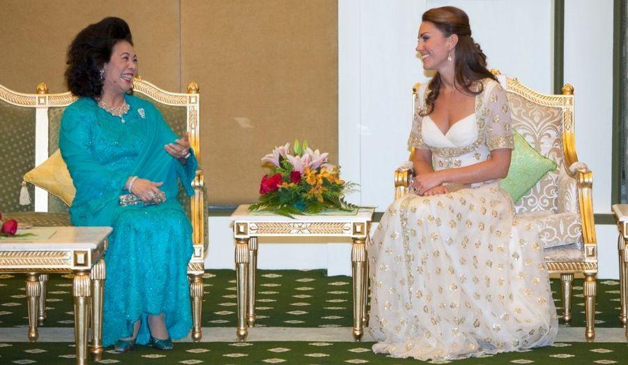 Kate et la reine Raja Permaisuri Agong de Malaisie
