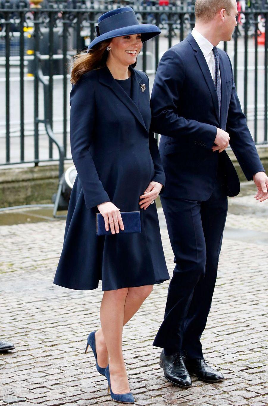 La duchesse Catherine de Cambridge à Londres, le 12 mars 2018