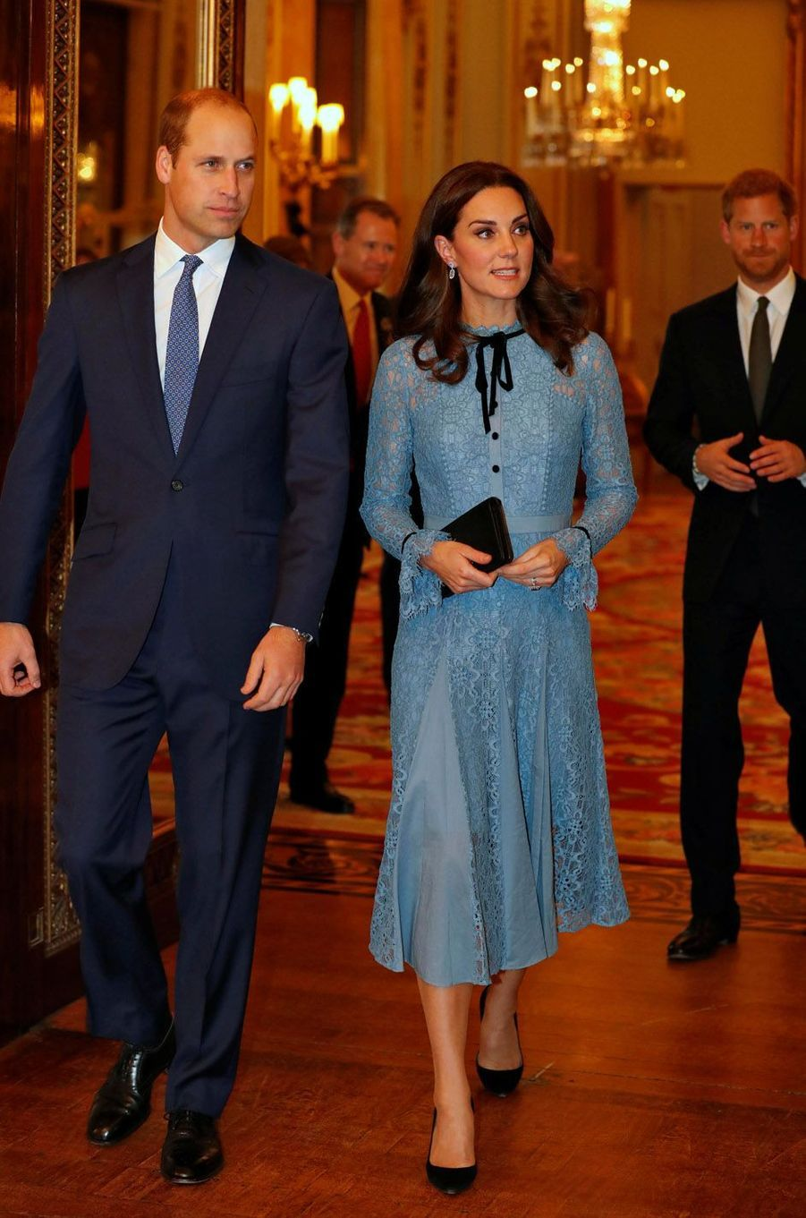La duchesse de Cambridge en compagnie du prince William.