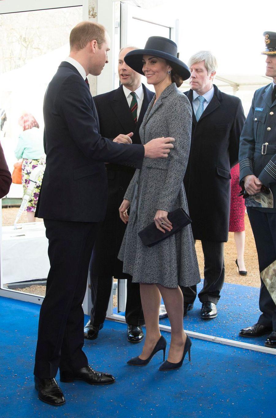 La duchesse Catherine de Cambridge et le prince William à Londres, le 9 mars 2017