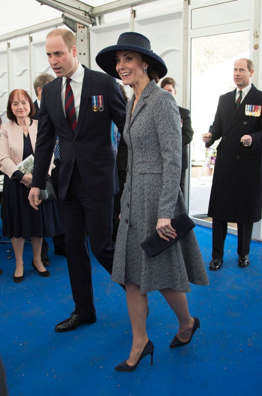 Le prince William et la duchesse Catherine de Cambridge à Londres, le 9 mars 2017