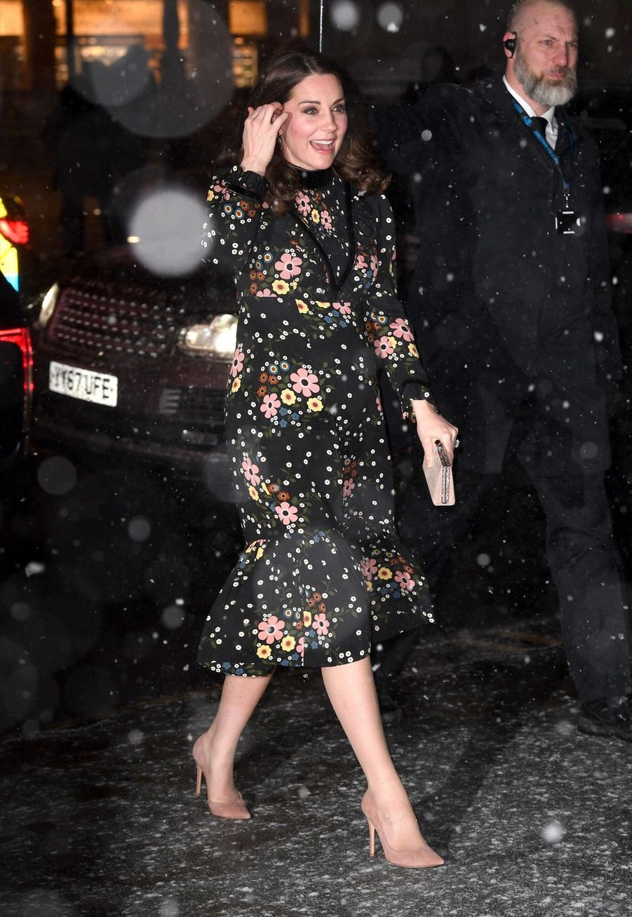 Kate Middleton, enceinte, visite laNational Portrait Gallery, mercredi 28 février.