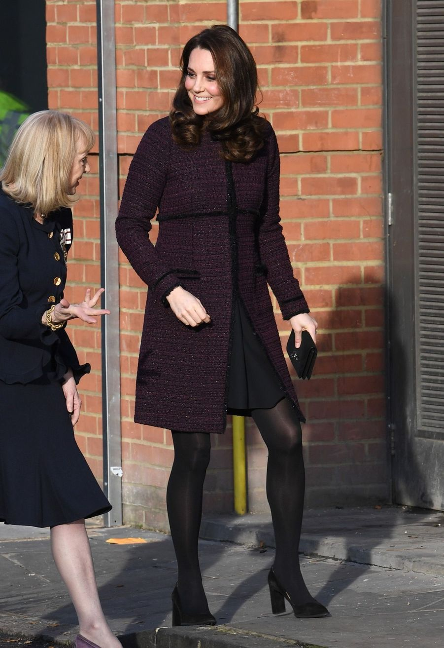 Kate Middleton, enceinte, était en visite au centre communautaire de North Kensington, à Londres.
