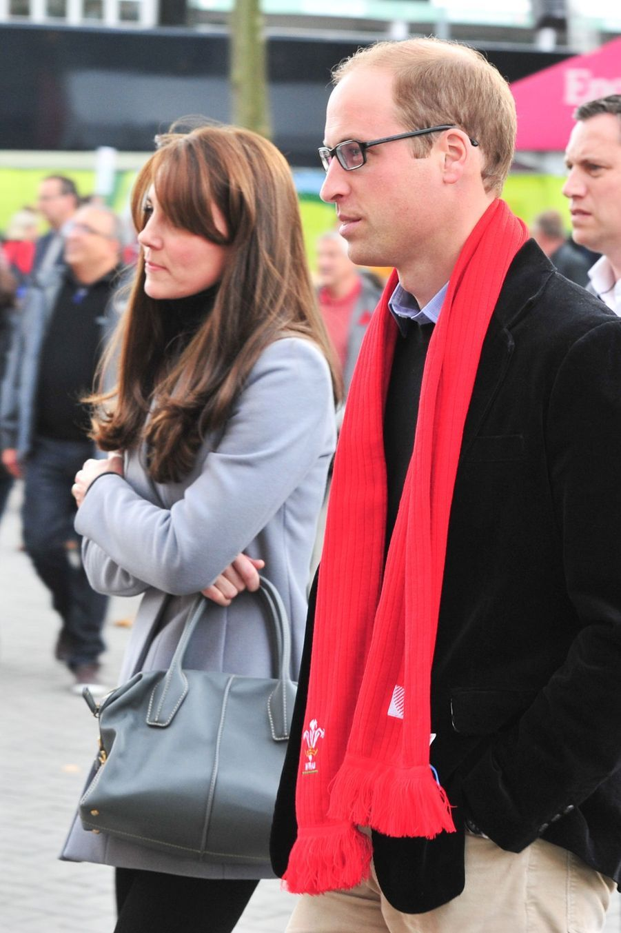 Kate et William supportent les Gallois