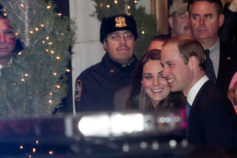Le prince William et Kate à leur arrivée au Carlyle hôtel à Manhattan, le 7 décembre 2014