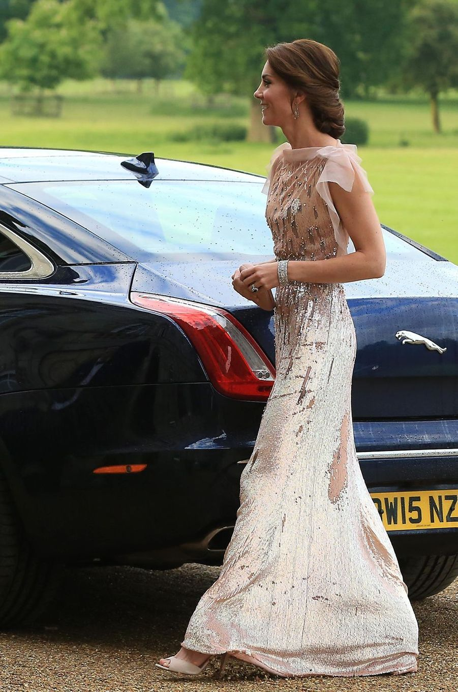 La duchesse Catherine de Cambridge à Houghton Hall à King's Lynn, le 22 juin 2016