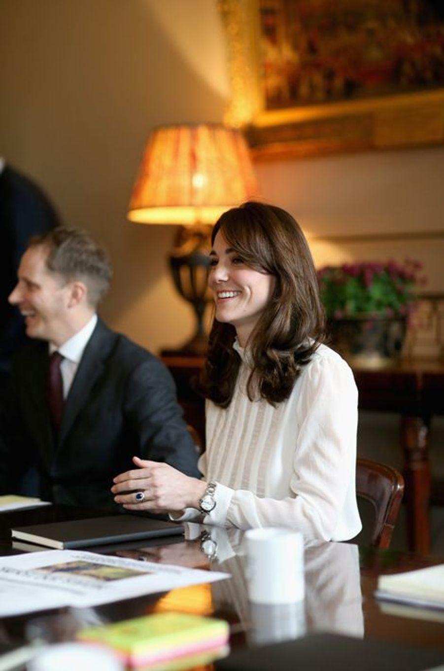 La duchesse Catherine de Cambridge à Kensington Palace à Londres, photo dévoilée le 17 février 2016